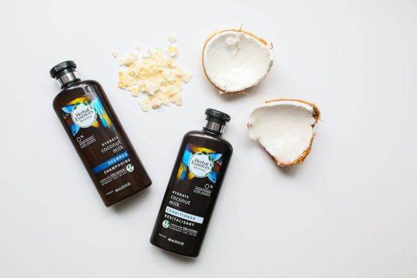 Bows & Sequins Beauty Review: Herbal Essences bio:renew Hydrating Coconut Milk Shampoo & Conditioner