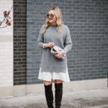 Winter Outfit: Sweater Dress + OTK Boots