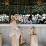 Piña Coladas in the Cabana in Cabo