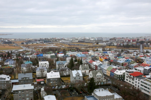 Bows & Sequins Iceland Travel Guide: View from Hallgrimskirkja Tower