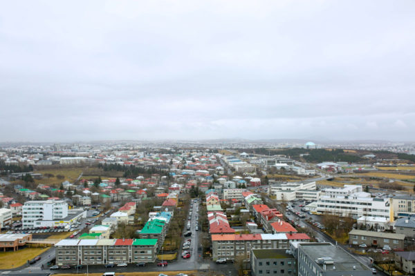 Bows & Sequins Iceland Travel Guide: View from Top of Hallgrimskirkja