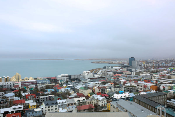 Bows & Sequins Iceland Travel Guide: View from Hallgrimskirkja Reykjavik