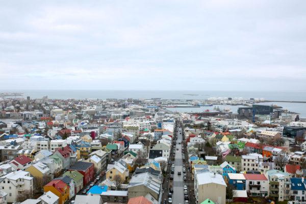Bows & Sequins Iceland Travel Guide: View from Hallgrimskirkja Reykjavik