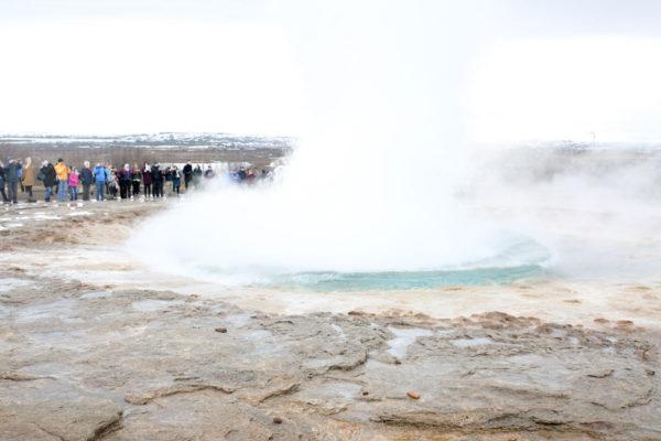 Bows & Sequins Iceland Travel Guide: Strokkur Geysir on Golden Circle Tour