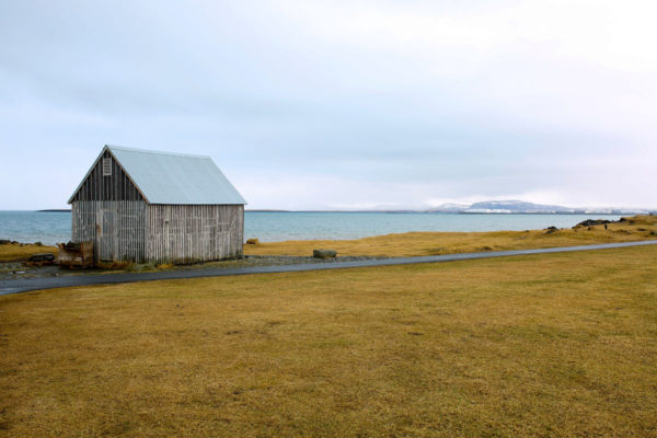 Wooden House by the Sea in Iceland
