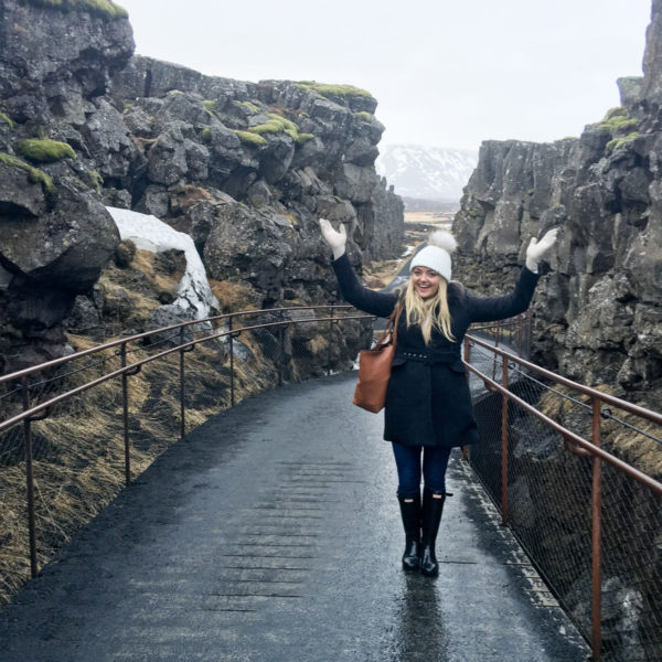 Bows & Sequins Travel Guide in Iceland at the Tectonic Plate Divide