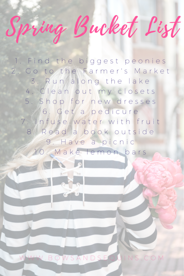 Bows & Sequins Spring Bucket List