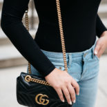 What to Wear Out: Black Bodysuit + Jeans
