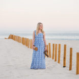 Striped Maxi Dress at Sunset