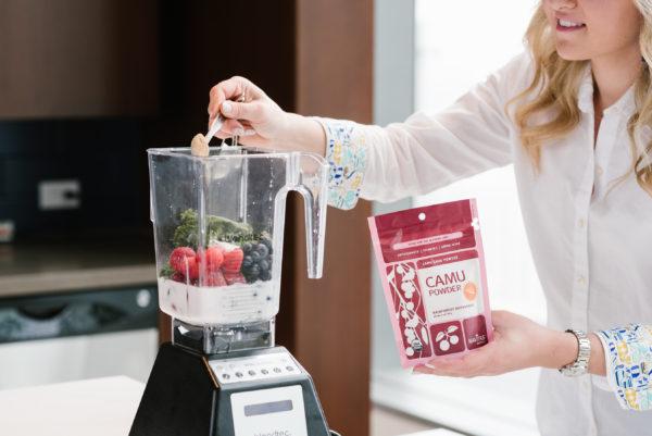 Bows & Sequins Smoothie Recipe with Camu Camu Powder