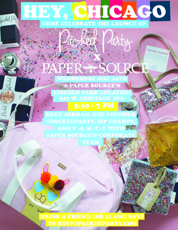 Paper Source Packed Party Event in Lincoln Park Chicago