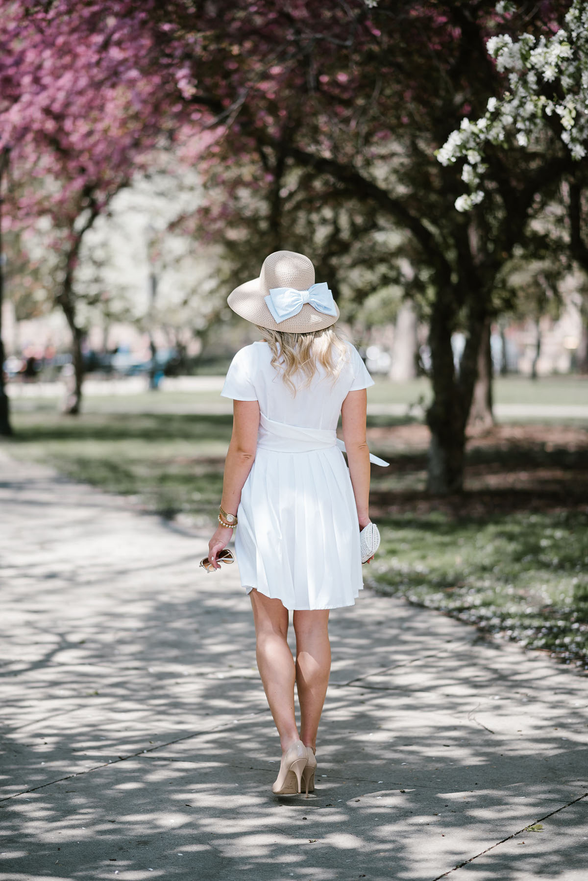 Little White Dress For The Kentucky Derby Bows Amp Sequins