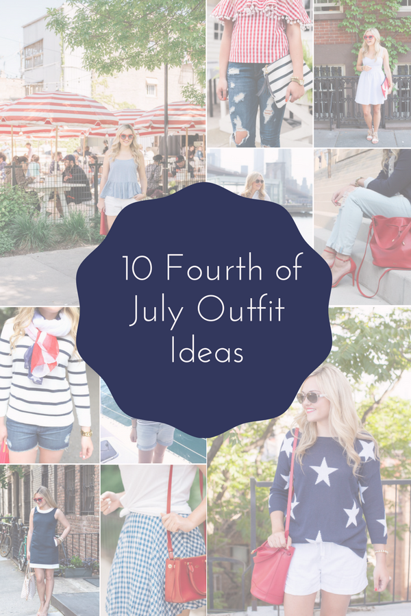 Bows & Sequins shares ten red, white, and blue outfit ideas for the Fourth of July.