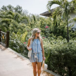 Striped Romper in Mayakoba