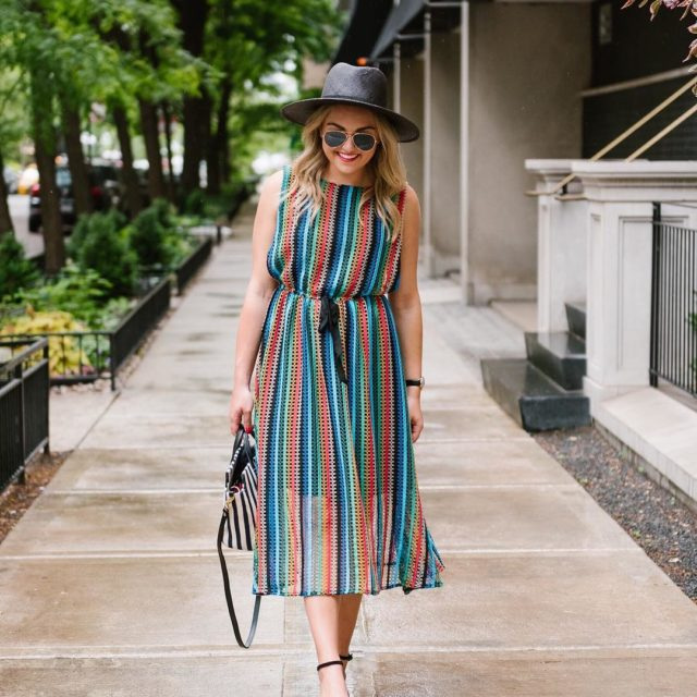 Stripes on stripes in yesterdays blog post PS this dresshellip