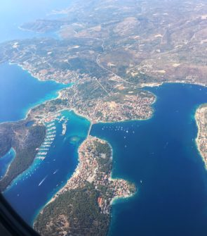 Bows & Sequins in Croatia, view from the plane in Split
