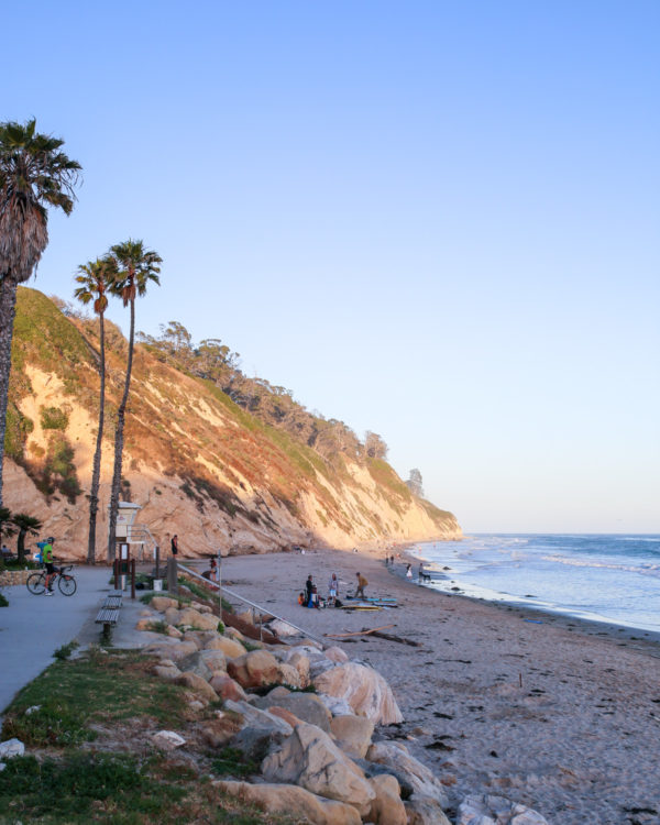 Bows & Sequins Santa Barbara Travel Guide: Hendry's Beach at Sunset
