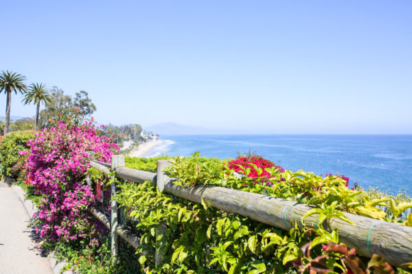 Bows & Sequins Santa Barbara Travel Guide: View of Butterfly Beach