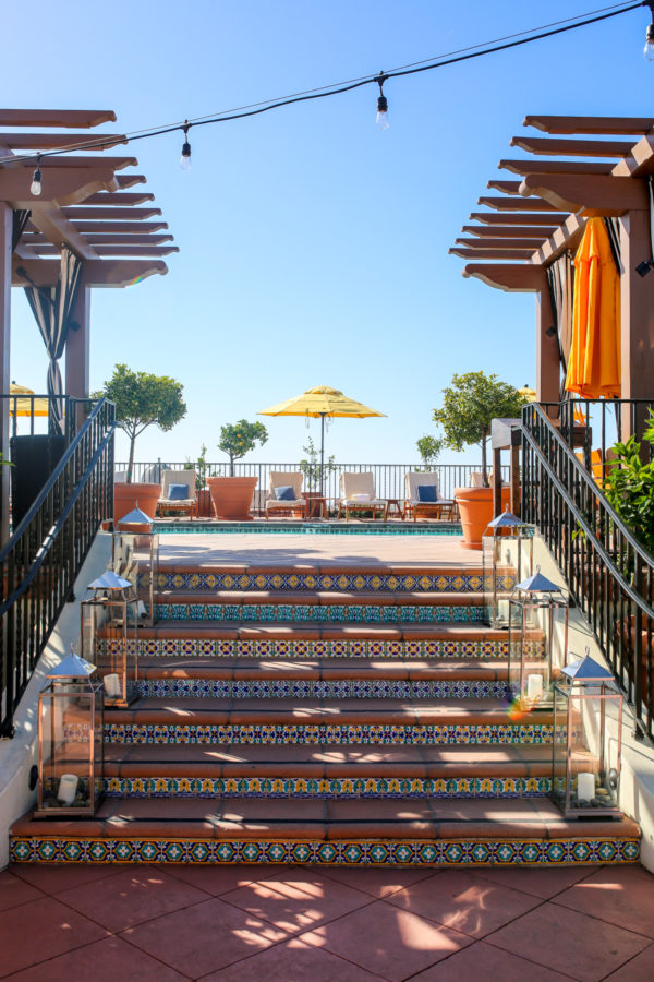 Bows & Sequins Santa Barbara Travel Guide: Kimpton Canary Hotel Rooftop Pool