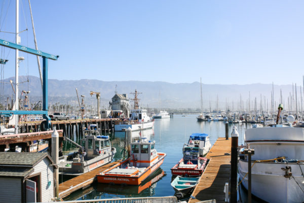 Bows & Sequins Santa Barbara Travel Guide: Boats on the Harbor