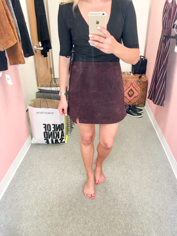 Bows & Sequins Guide to Shopping the Nordstrom Anniversary Sale   What to Buy: Blank NYC Suede Mini Skirt