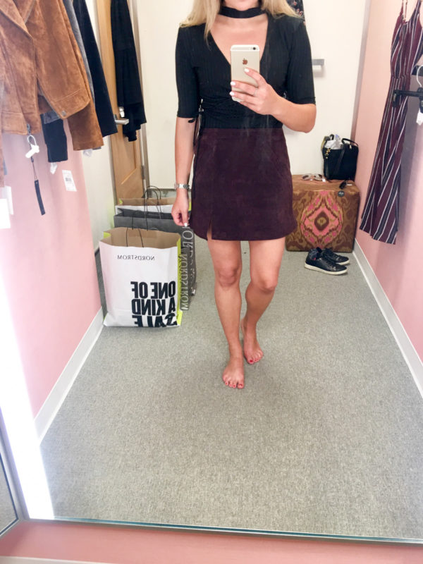 Bows & Sequins Guide to Shopping the Nordstrom Anniversary Sale | What to Buy: Blank NYC Suede Mini Skirt in Plum