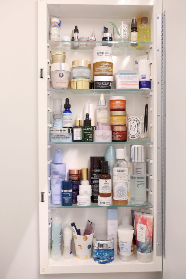 Bows & Sequins Medicine Cabinet Beauty Products