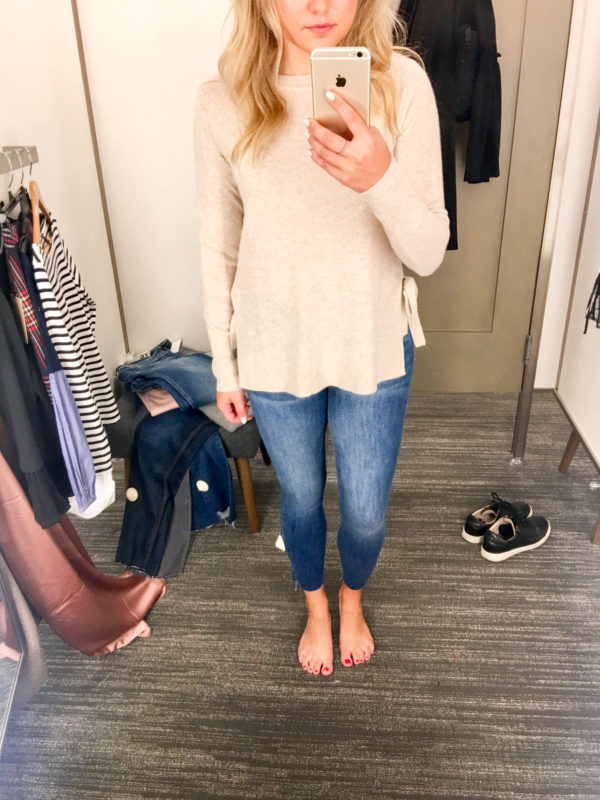 Bows & Sequins Guide to Shopping the Nordstrom Anniversary Sale   What to Buy: Halogen Cashmere Sweater and Current Elliott Jeans