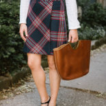 How to Wear a Plaid Skirt to Work