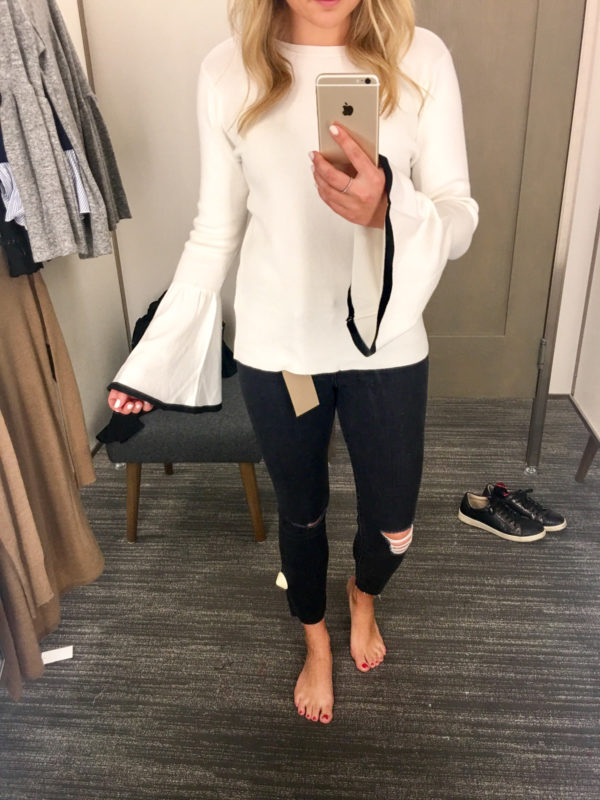 Bows & Sequins Guide to Shopping the Nordstrom Anniversary Sale   What to Buy: Halogen Bell Sleeve Sweater