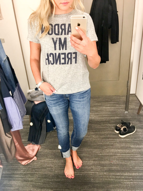 Bows & Sequins Guide to Shopping the Nordstrom Anniversary Sale | What to Buy: J.Crew Pardon My French Tee Shirt
