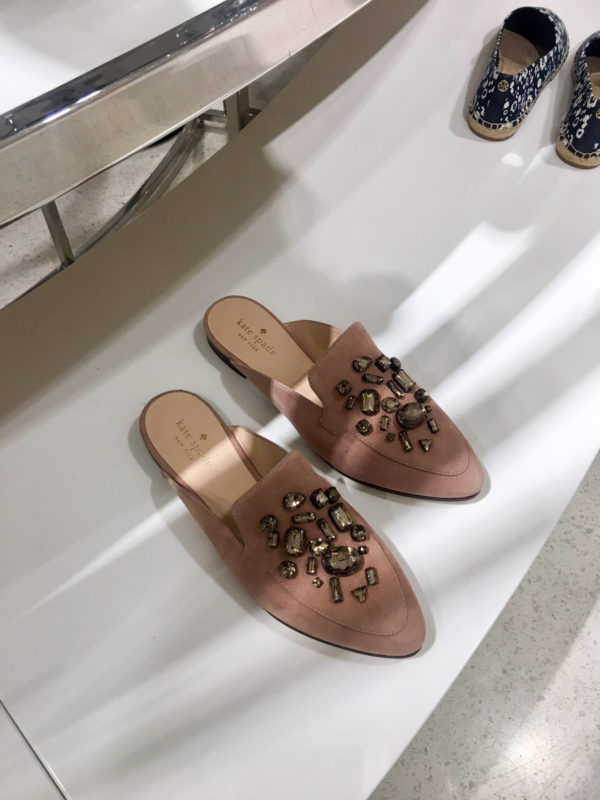 Bows & Sequins Guide to Shopping the Nordstrom Anniversary Sale | What to Buy: Kate Spade Blush Pink Slip On Loafers with Jewels