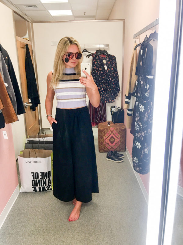 Bows & Sequins Guide to Shopping the Nordstrom Anniversary Sale | What to Buy: Quay Sunglasses, Striped Sleeveless Top, High-Waisted Trousers