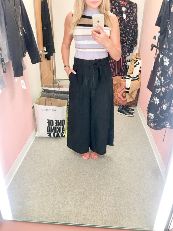Bows & Sequins Guide to Shopping the Nordstrom Anniversary Sale   What to Buy: Topshop Striped Crop Top, Leith High-Waisted Wide Leg Trousers
