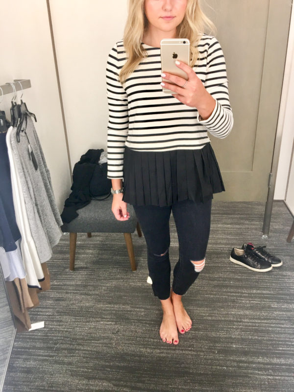 Bows & Sequins Guide to Shopping the Nordstrom Anniversary Sale | What to Buy: Striped Top with Ruffle Hem