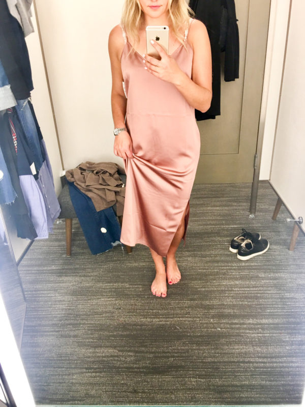 Bows & Sequins Guide to Shopping the Nordstrom Anniversary Sale | What to Buy: Trouve Silk Cami Slip Dress in Millennial Pink