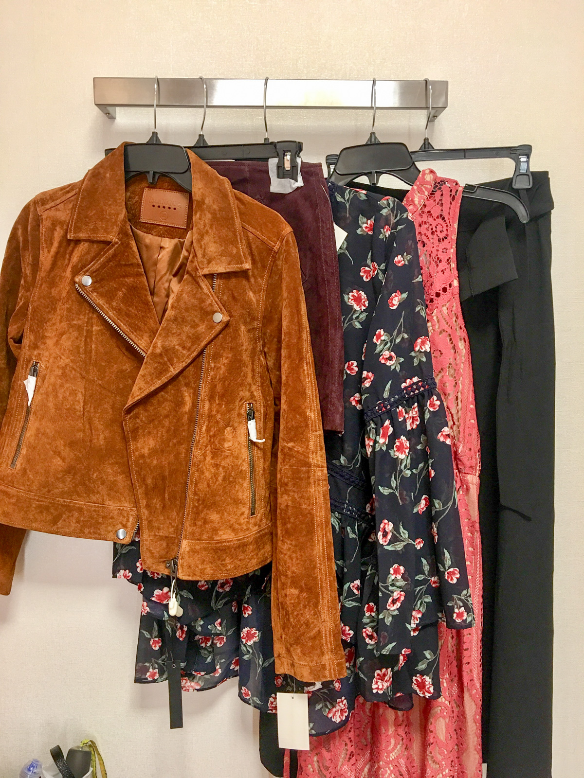 Bows & Sequins Guide to Shopping the Nordstrom Anniversary Sale | What to Buy: Moto Jacket, Suede Skirt, Floral Blouse, Lace Dress