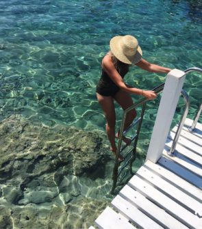 Straw Hat, Crochet One Piece Bikini, Hvar Croatia