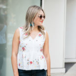 Peplum + Pops of Color