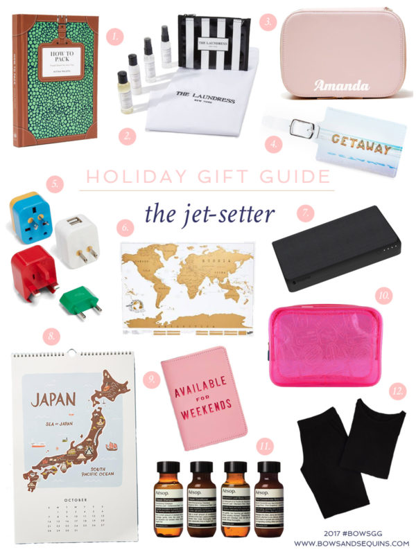 Jessica Sturdy shares the best gifts to give the jet-setters and world travelers on your holiday shopping list.