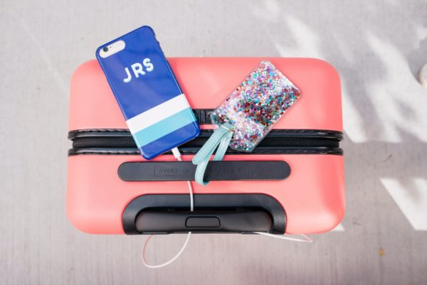 Bows & Sequins reviewing the Away x Gray Malin collaboration suitcase.