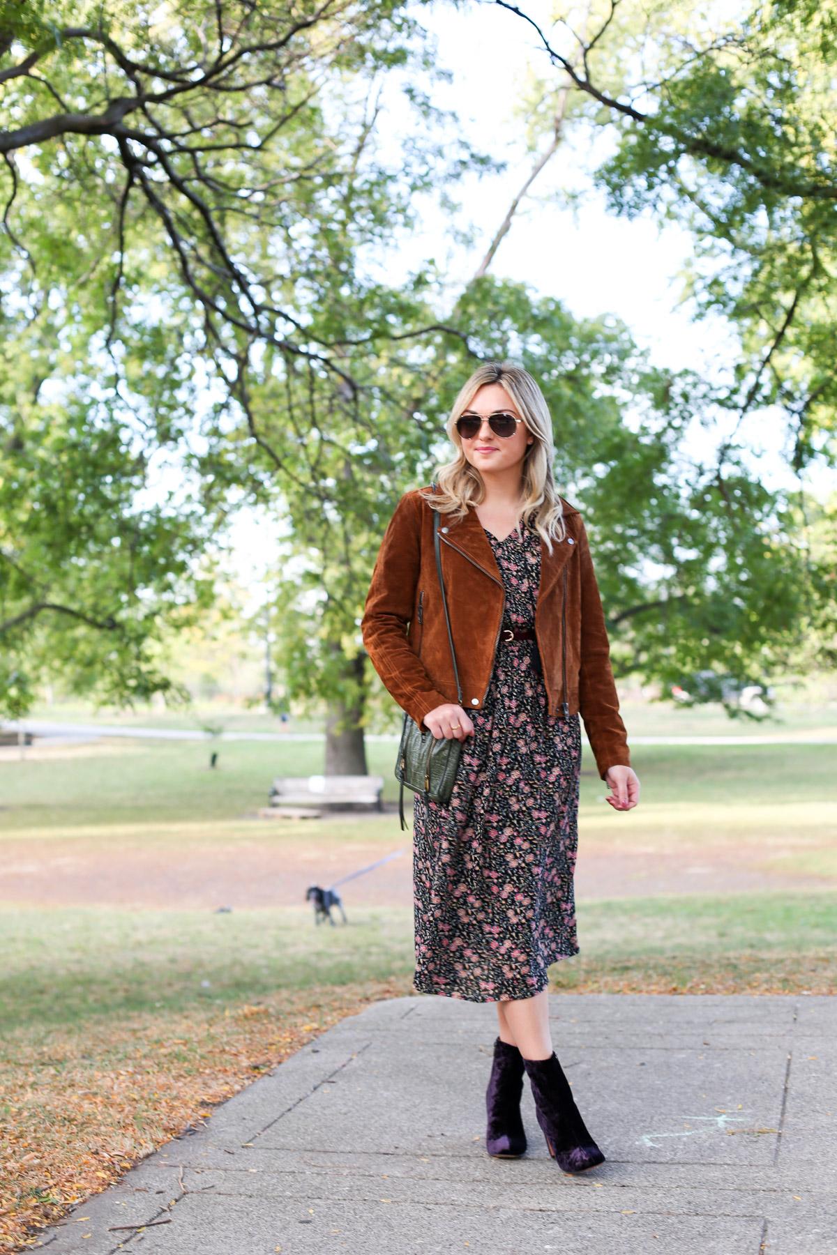 midi dress and booties