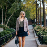 Houndstooth Blazer & Leather Loafers