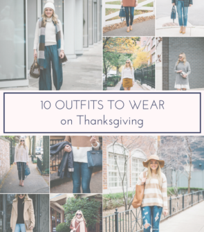 Jessica Sturdy shares ten outfit ideas for Thanksgiving Day.