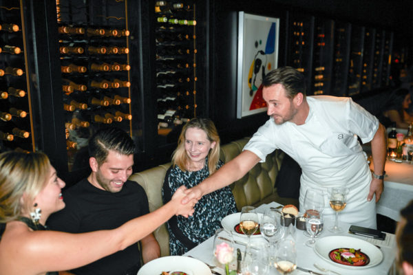 Travel blogger Jessica Sturdy with Jason Atherton at City Social in London