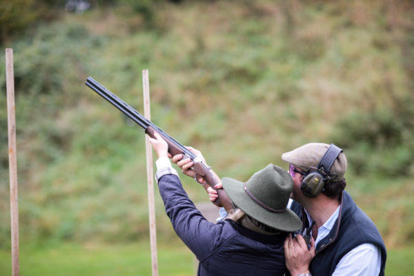 Blogger Jessica Sturdy at EJ Churchill Estate in High Wycombe taking a Clay Pigeon Shooting Lesson