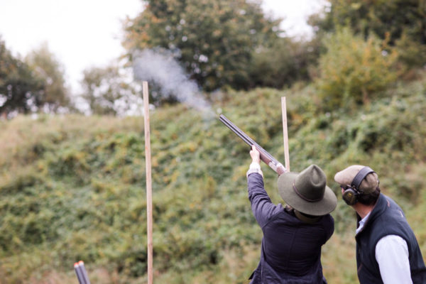 Blogger Jessica Sturdy at EJ Churchill Estate taking a Clay Pigeon Shooting Lesson