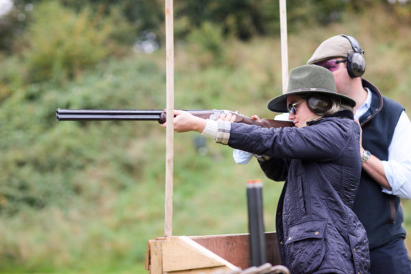 Blogger Jessica Sturdy at EJ Churchill Clay Pigeon Shooting in England