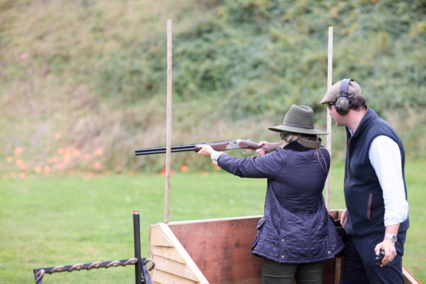 Blogger Jessica Sturdy at EJ Churchill Clay Pigeon Shooting in Great Britain