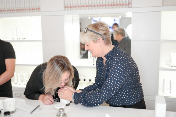 Travel blogger Jessica Sturdy with Jo Malone in London